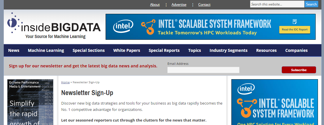 """A Four Minute Read Big Data and Data Science Newsletter list to get you informed on anything """"Data""""."""