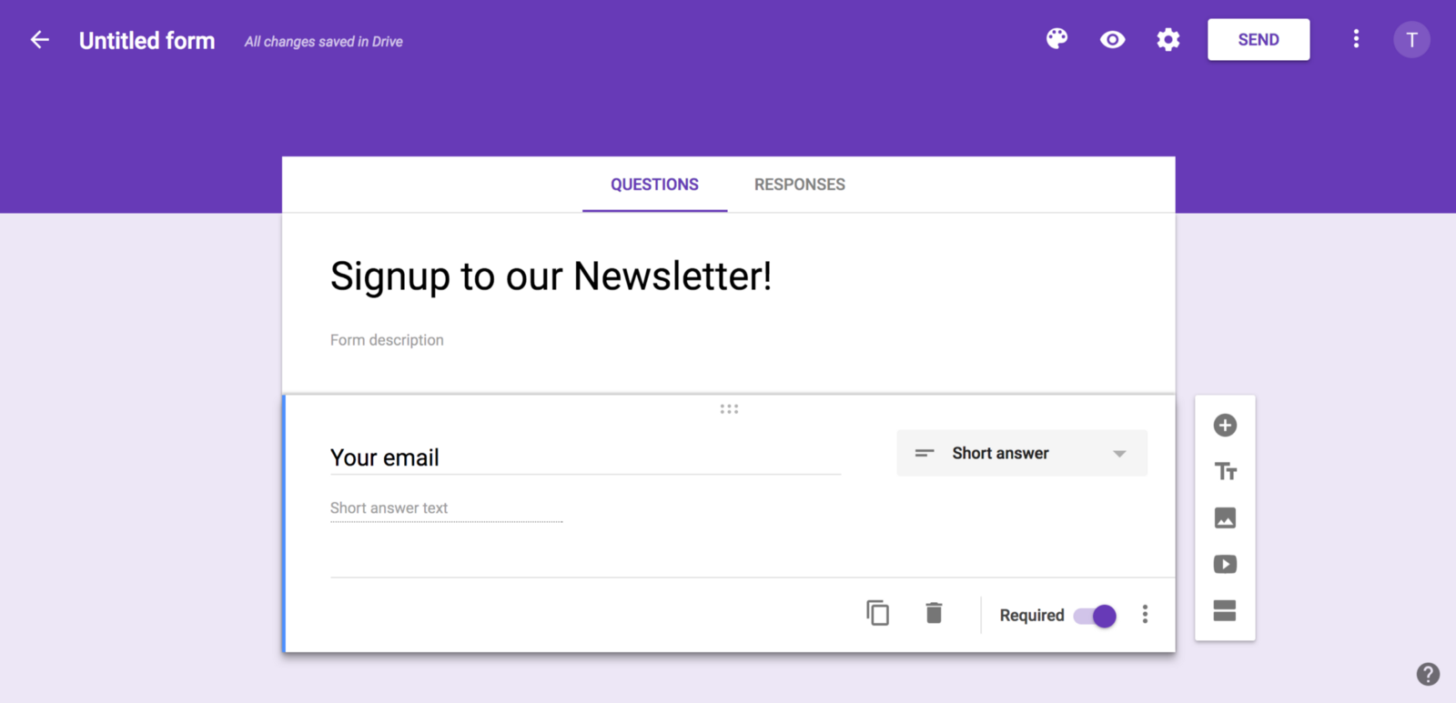 email sign up list