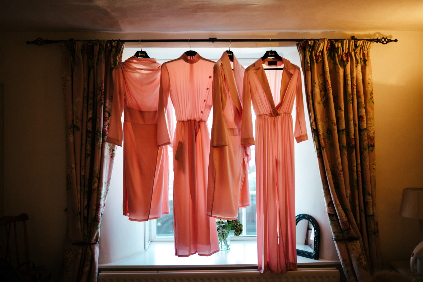 "Personalized pink bridesmaid dresses from the ""La Vie En Rose Collection"" tailor made"