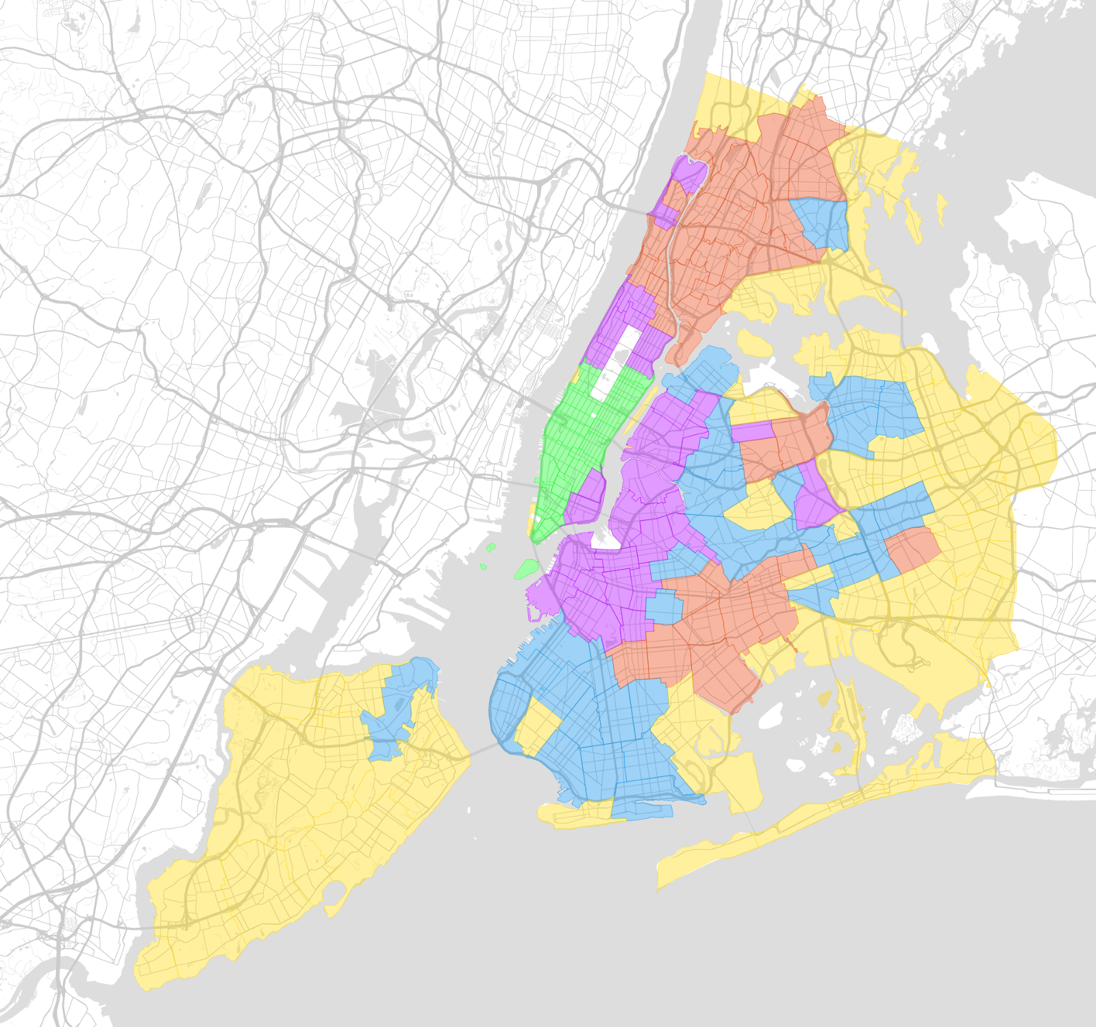 Five boroughs for the 21st century topos medium there is also a clear pattern of concentric rings radiating from downtown manhattan despite the fact that we didnt include commute time or distance to publicscrutiny Image collections