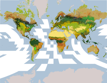 Introduction to map projections with google earth engine part 1 the familiar mercator projection commonly used for maps on web gumiabroncs Choice Image