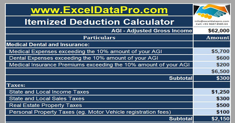Useful Excel Templates To Assist You In Preparing Federal Income Tax
