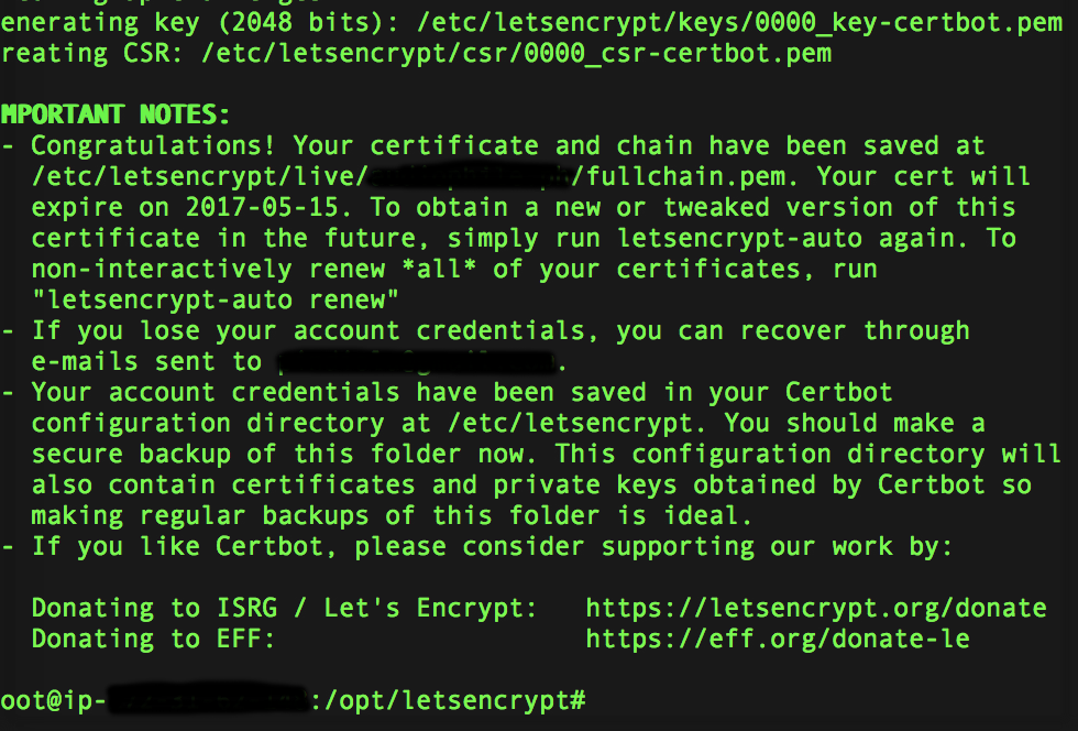 Secure your website using Let's Encrypt free SSL certificate