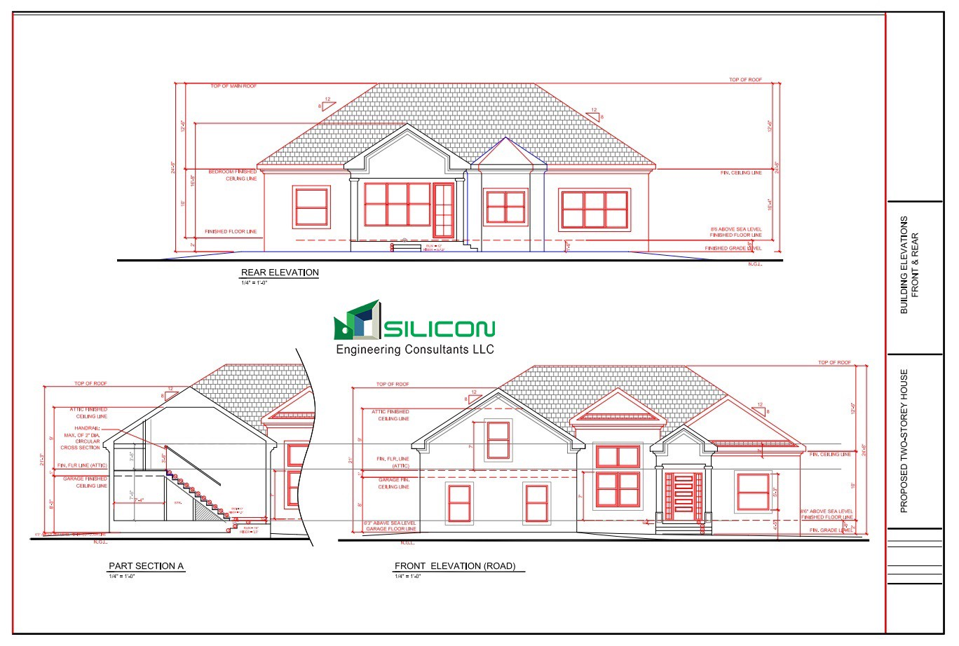 Building Drawing Plan Elevation Section : Architectural interior construction plans drawings