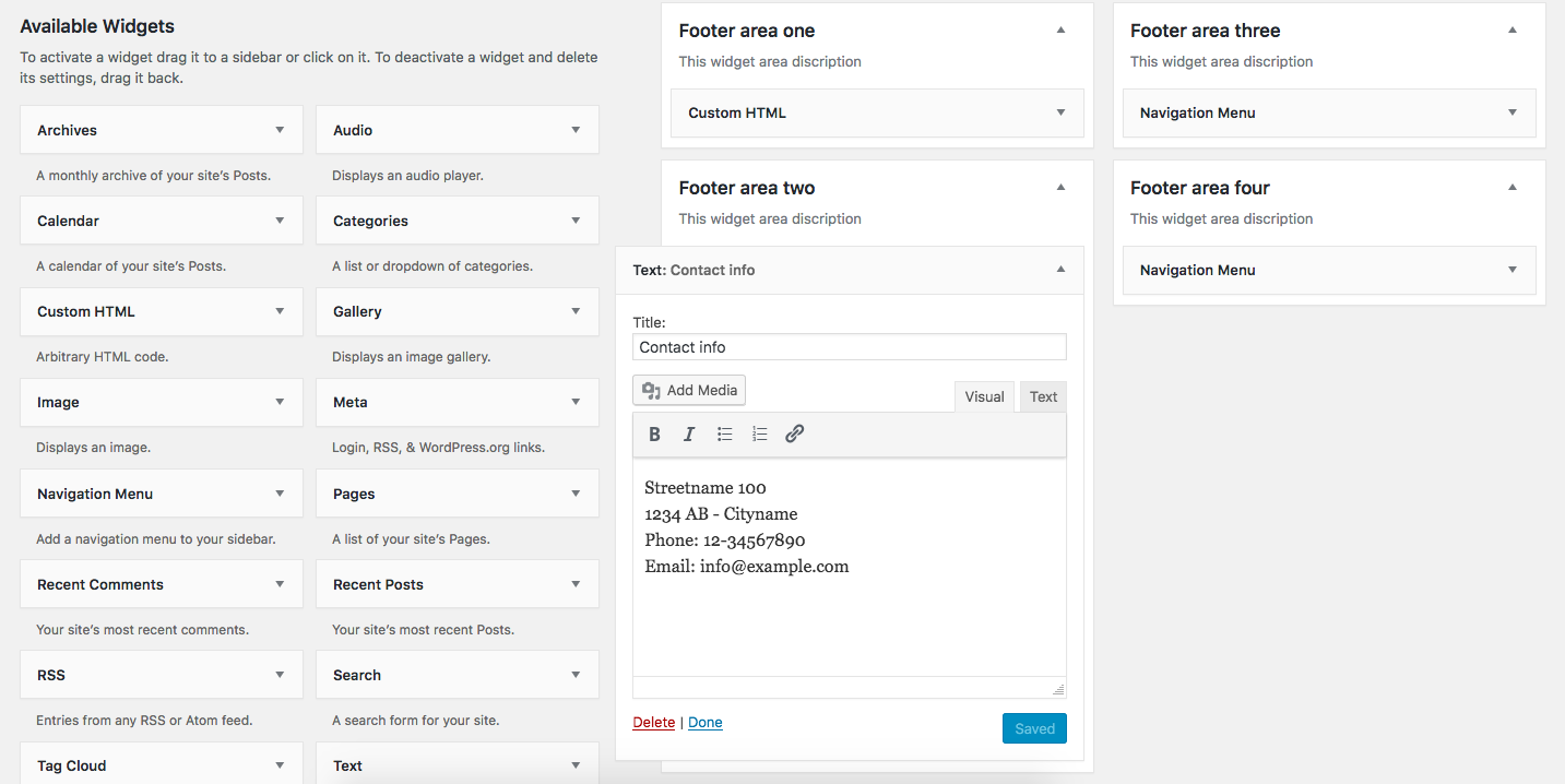 WordPress: Managing Your Theme's Footer With Widgets