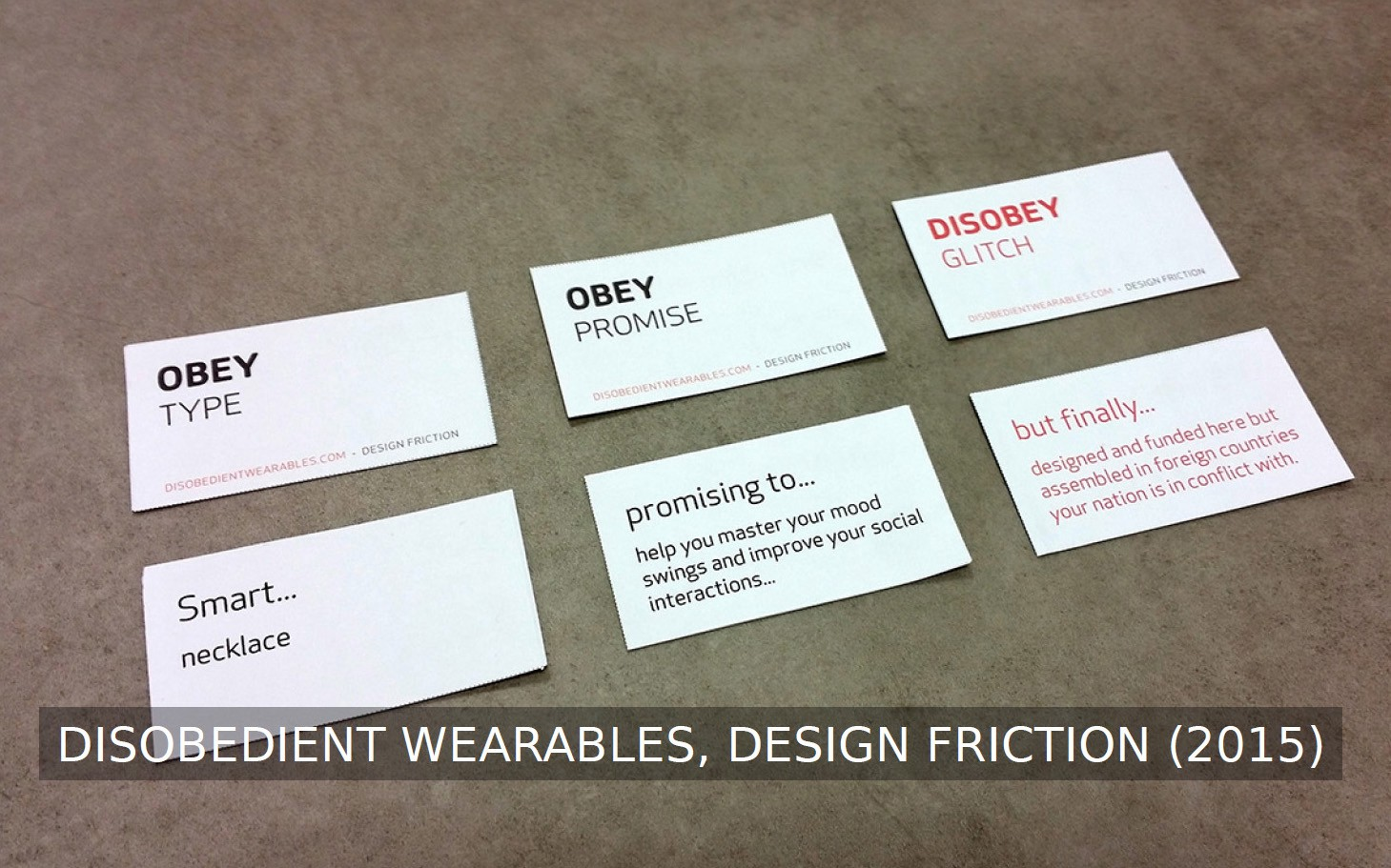 Reanticipation iterative design fictions design friction medium the desobedient wearables cards are assumed as a tool to design new alternative wearables following the idea of disobedience the content of the cards has solutioingenieria Gallery