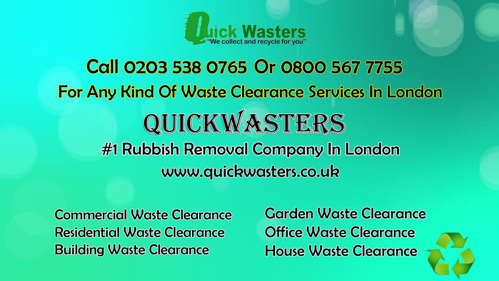 Waste Clearance Services In London – QuickWastersUK – Medium