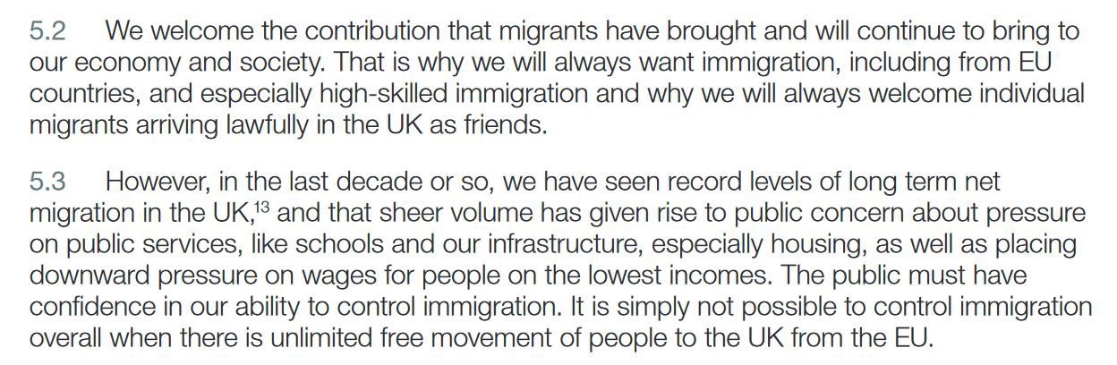 In The Tories White Paper They Are Admitting Lie That Immigration Has Put Pressure On Schools