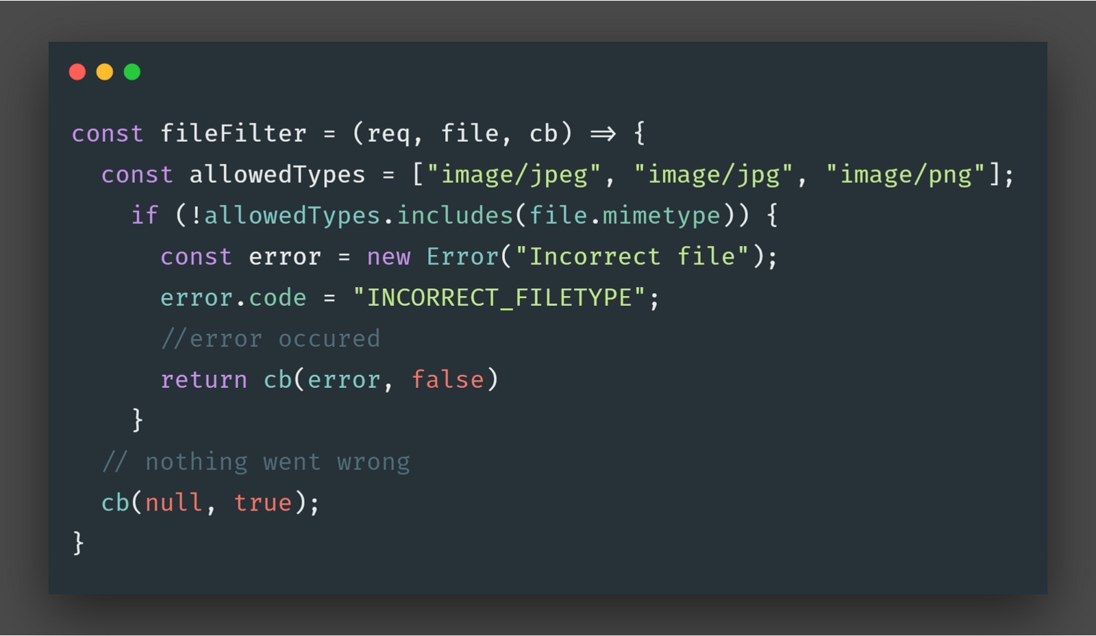 fileFilter function