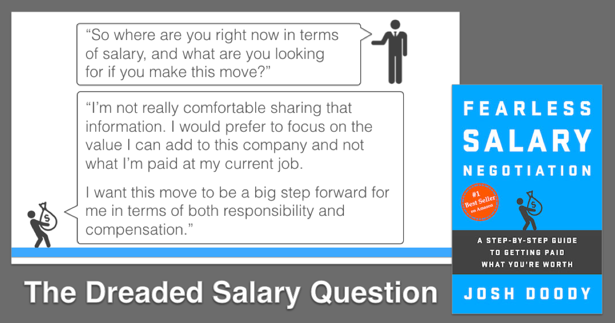 how to answer the  u201cwhat u2019s your current salary  u201d job