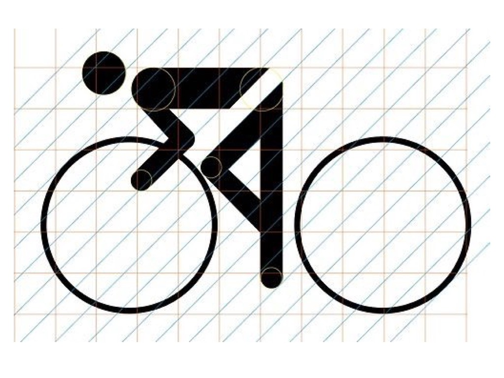 Munich Olympic Games 1972 Cycling Pictogram Grid