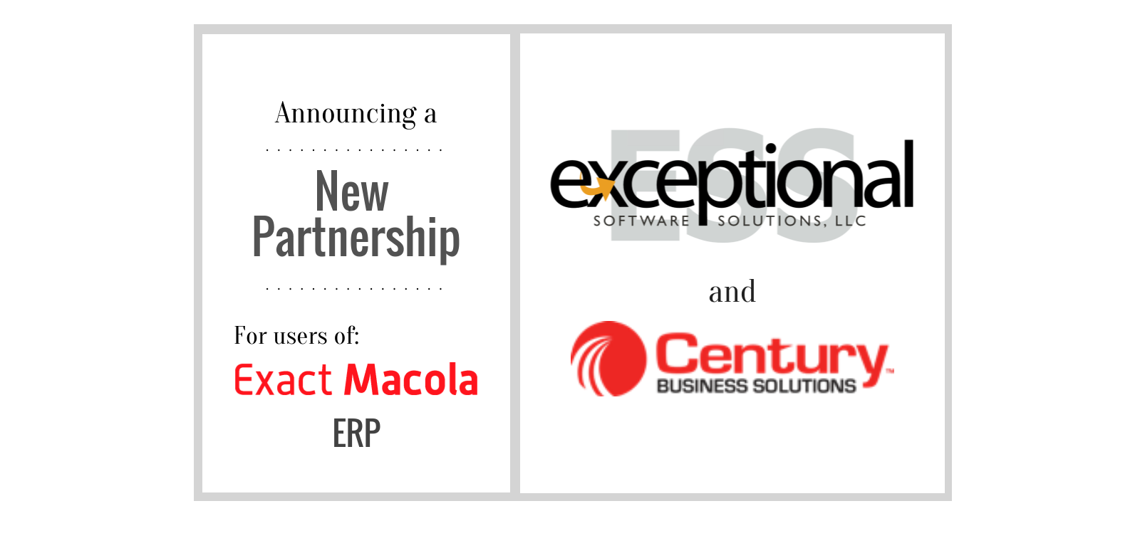 Exceptional software solutions llc announces a new partnership with for more information on credit card payment processing for exact macola contact exceptional software solutions at todesoftsol reheart Images