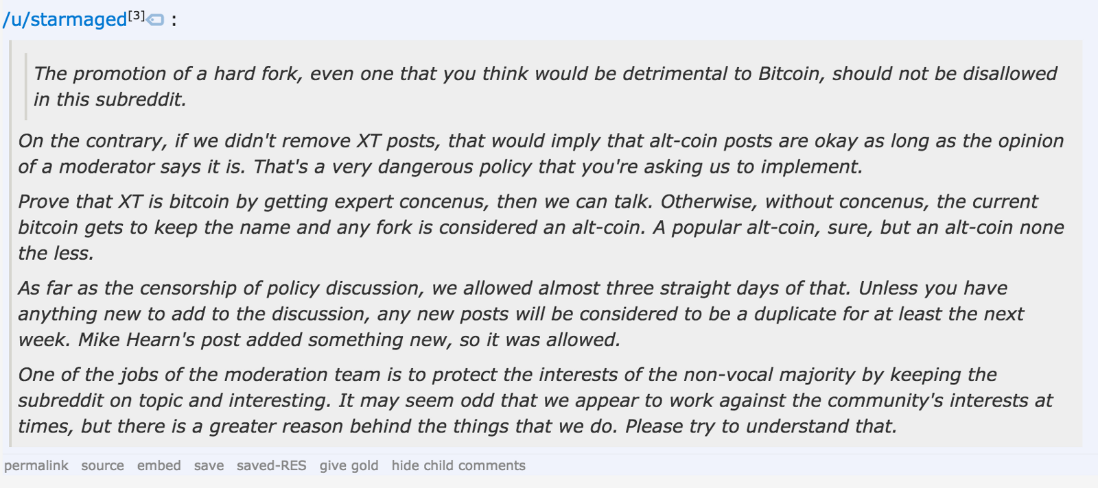 A Brief And Incomplete History Of Censorship In Rbitcoin