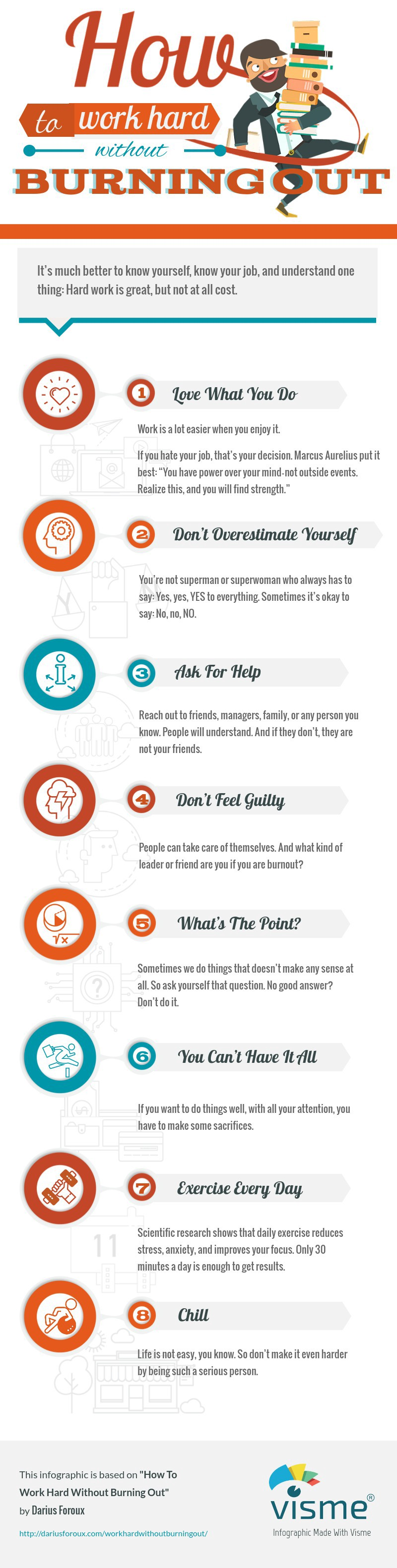 How To Work Hard Without Burning Out (infographic)