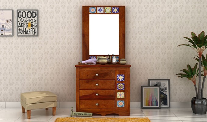 How Can You Make A Dressing Table From The Chest Of Drawers?