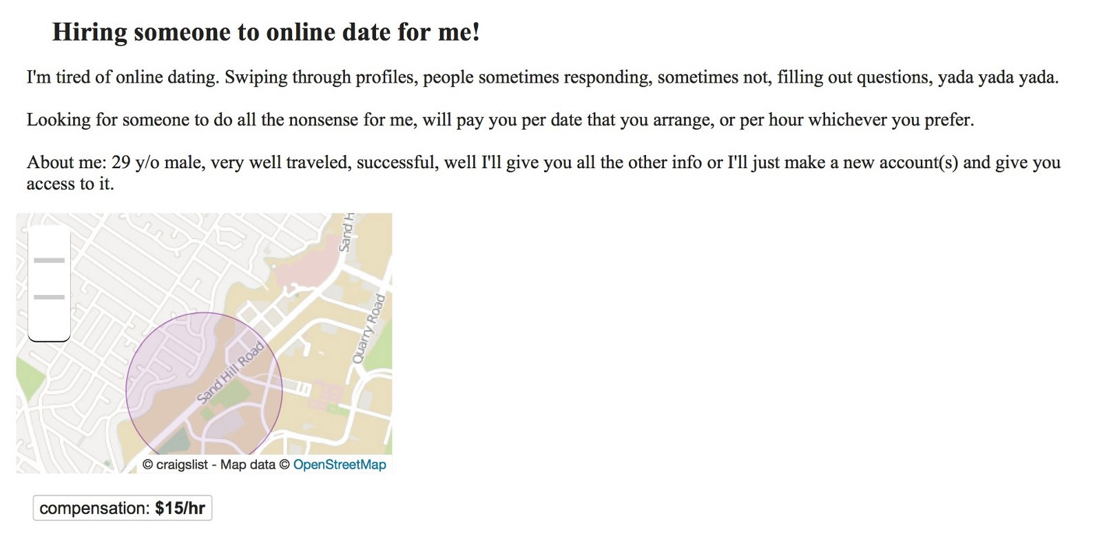 dating companies bay area jobs craigslist