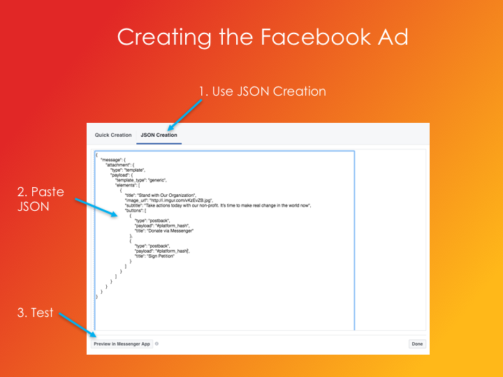 how to get facebook ads clicks and messenger bot