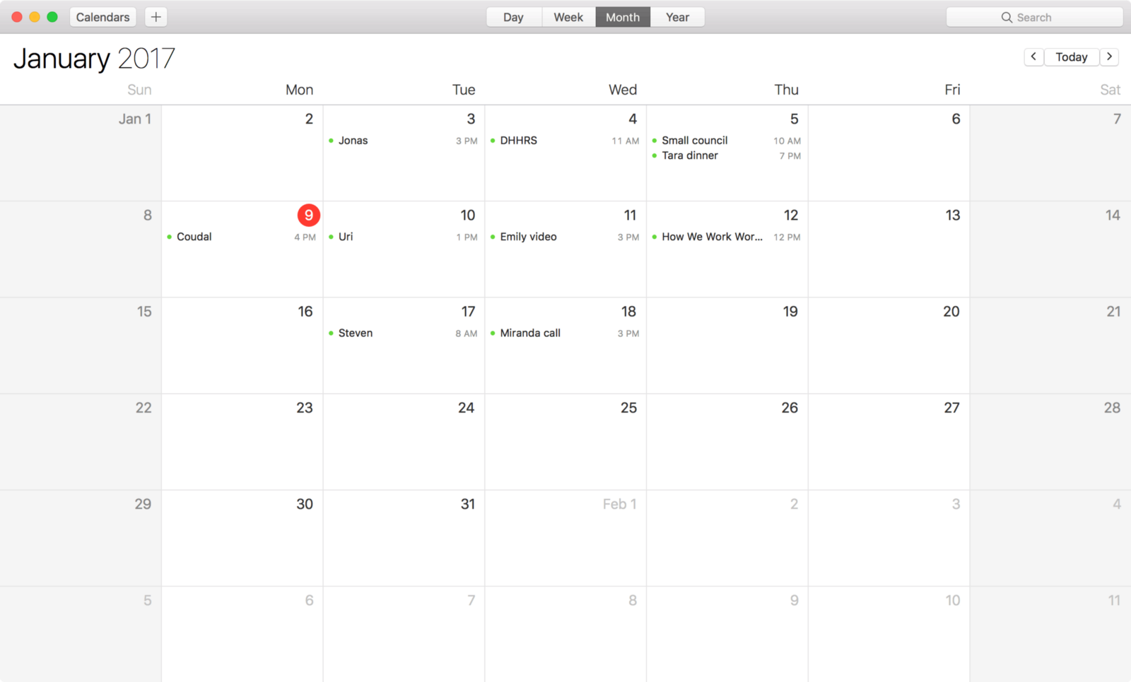what my calendar looks like signal v noise