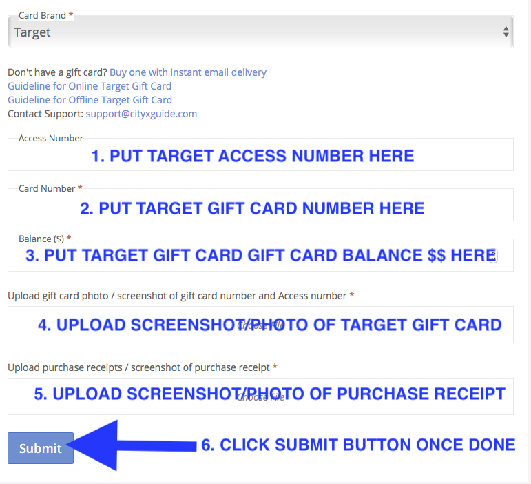How To Upload Target Gift Card Ordered Online From Target Com