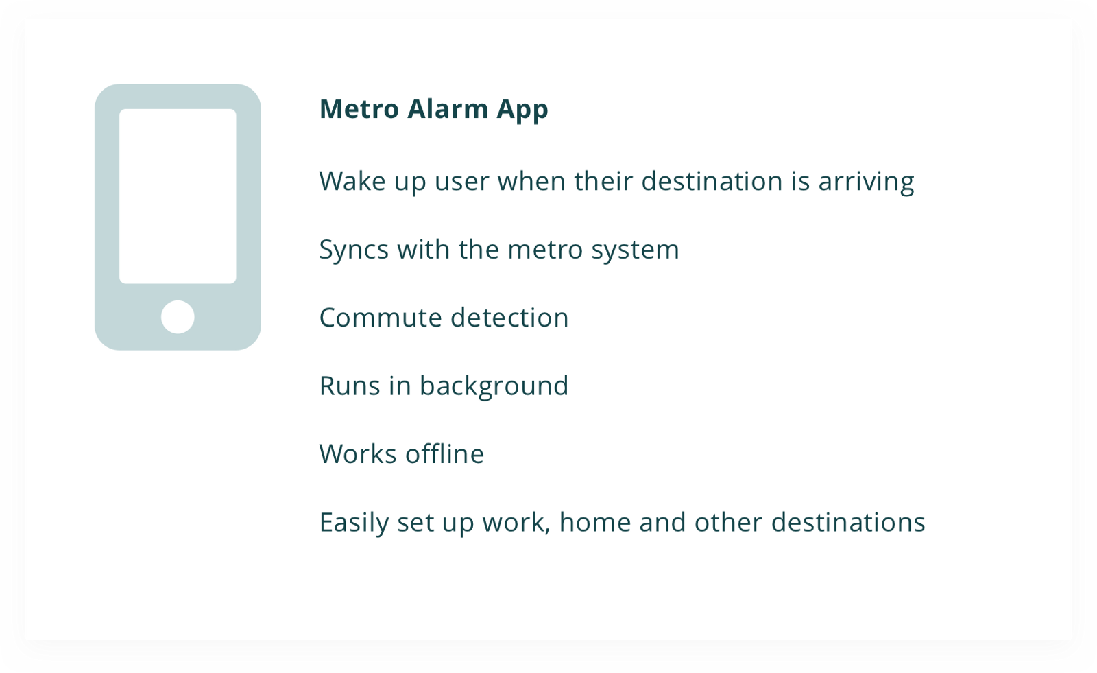 metro alarm \u2014 a ux case study \u2013 ux collectivecoming up with success metrics