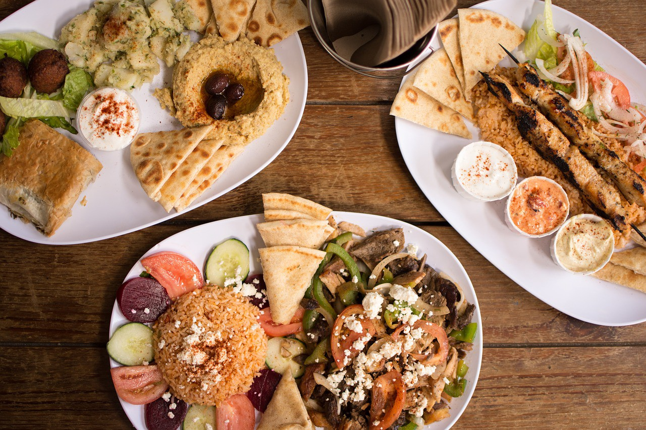 The Menu Also Includes Greek Salad Pita Roasted Potatoes Pork And En Souvlaki Sausages All Food Can Be Enjoyed With A Gl Of Wine On