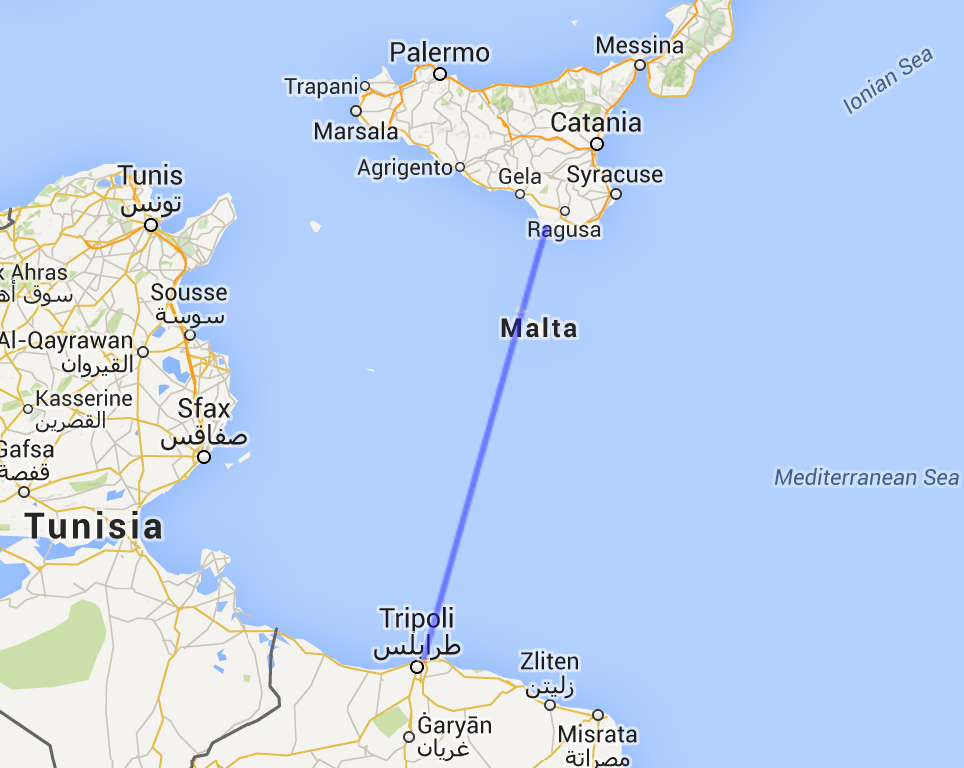 Libya To Italy Map.Imagine The Mariel Boat Lift Yet Far Far Deadlier The