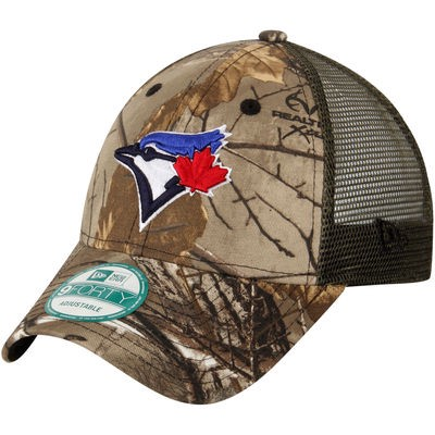 Men s Toronto Blue Jays New Era Realtree® Camo Trucker 9FORTY Adjustable Hat 53ee14cb03df