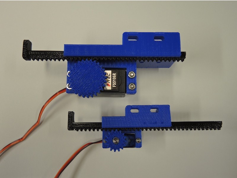 Hobby Servos Converted To 3d Printed Linear Actuators