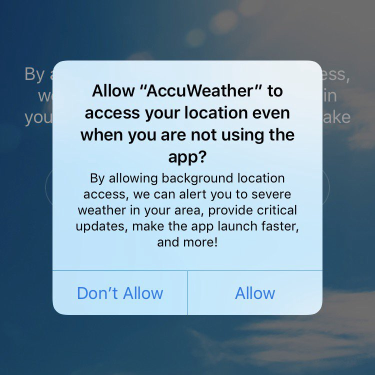 Accuweather found to be sharing location data without users' permission