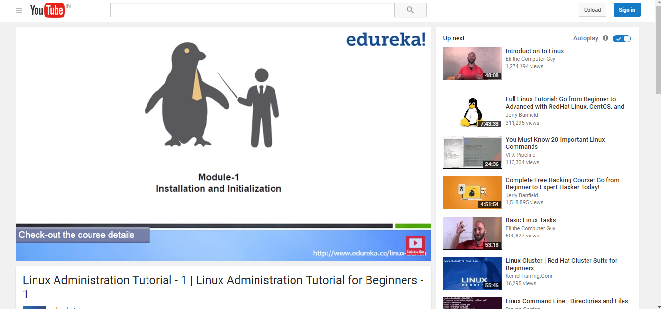 12 resources to learn linux administration eduonix learning a two and a half hour youtube tutorial by edureka on linux administration it starts from the very beginning including teaching you how to download and baditri Images
