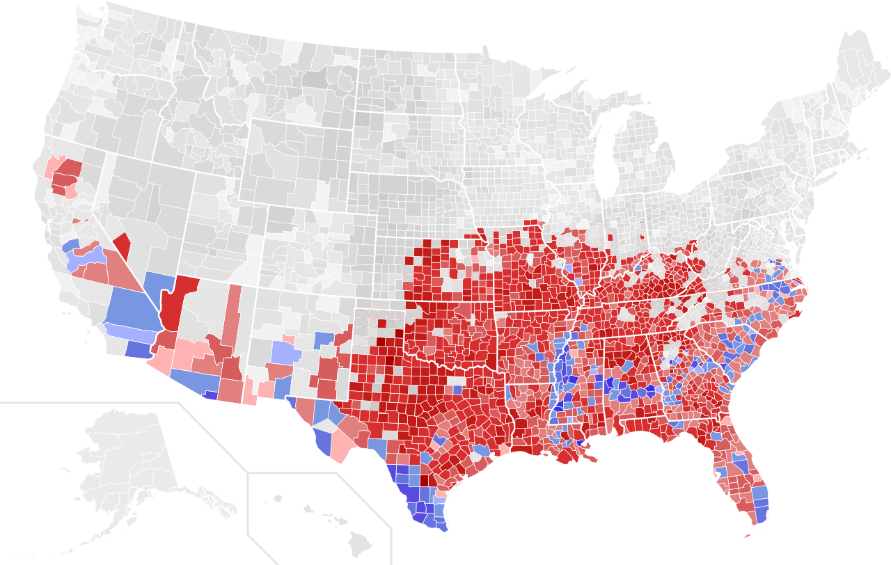 Climate Change And The Political Map Craig Ormiston Medium - Us map county political