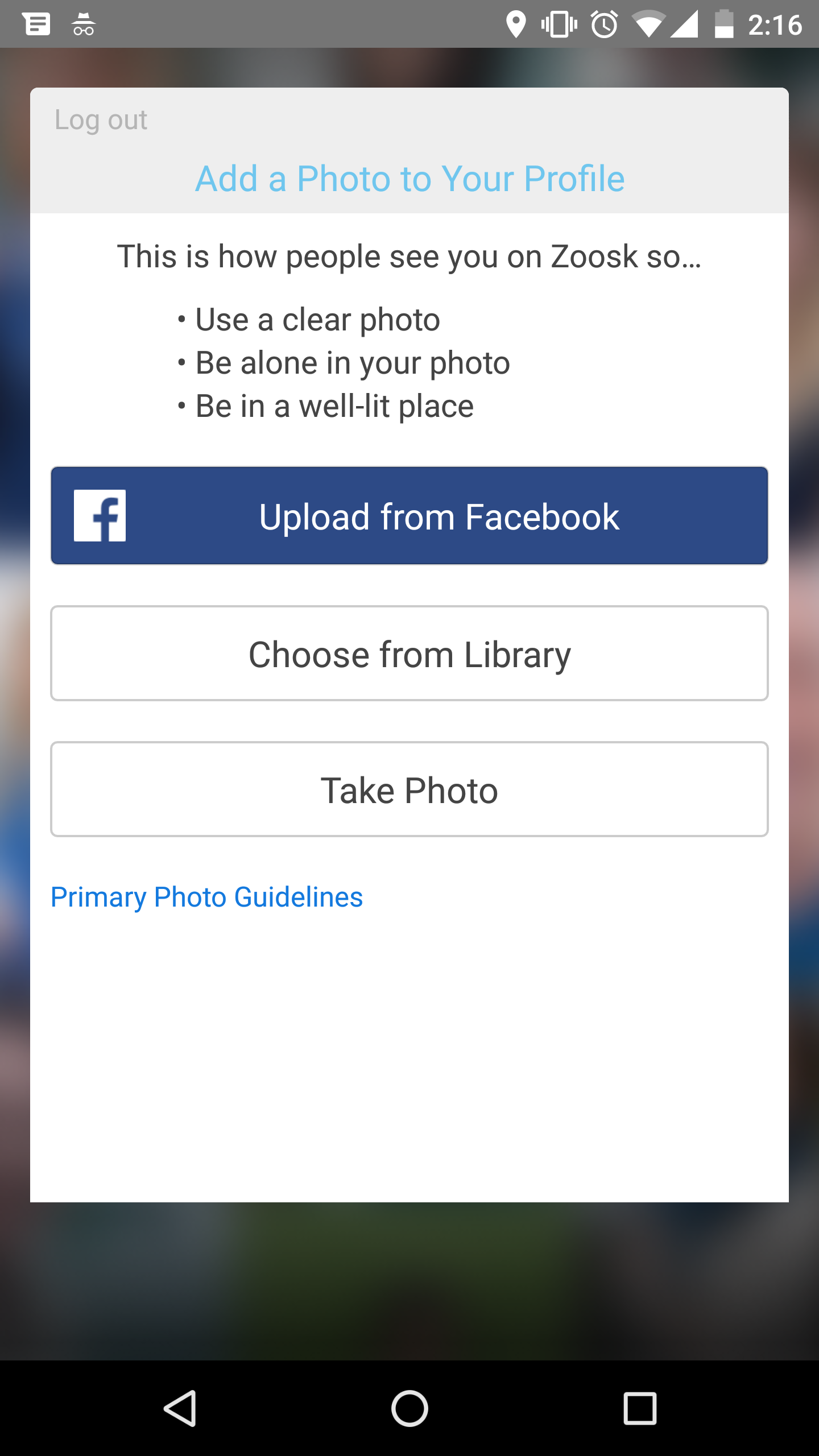 Add A Photo Navigate To The Zoosk Homepage How To Delete
