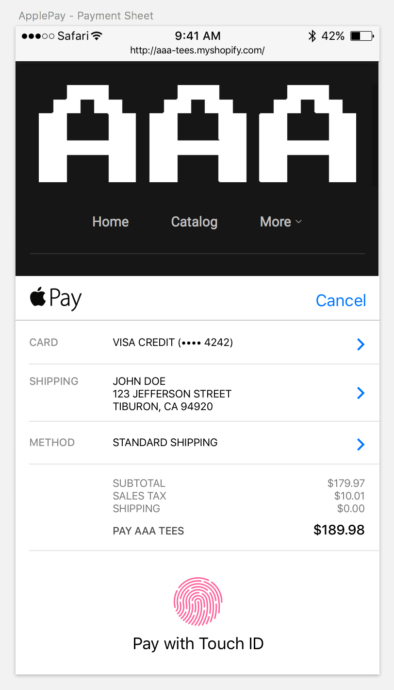 Apple Pay Sketch template example