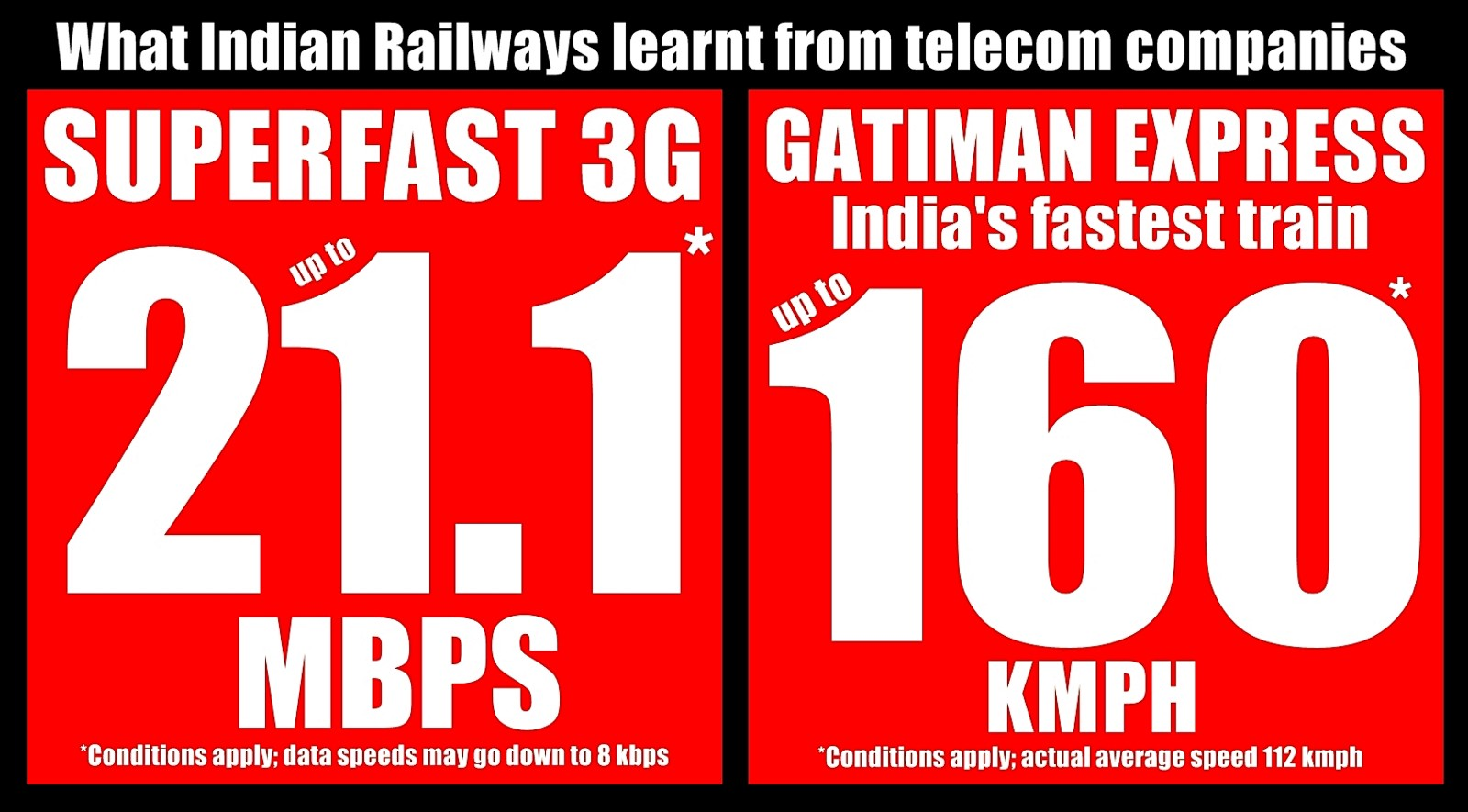 did you see the ad for gatiman express on monday did you read the cautionary line at the bottom express is fastest train which covers a