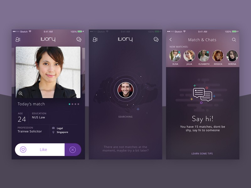 ionic dating app template