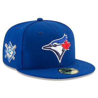 b876d589ce5 Men s Toronto Blue Jays New Era Blue 2018 Jackie Robinson Day 59FIFTY  Fitted Hat