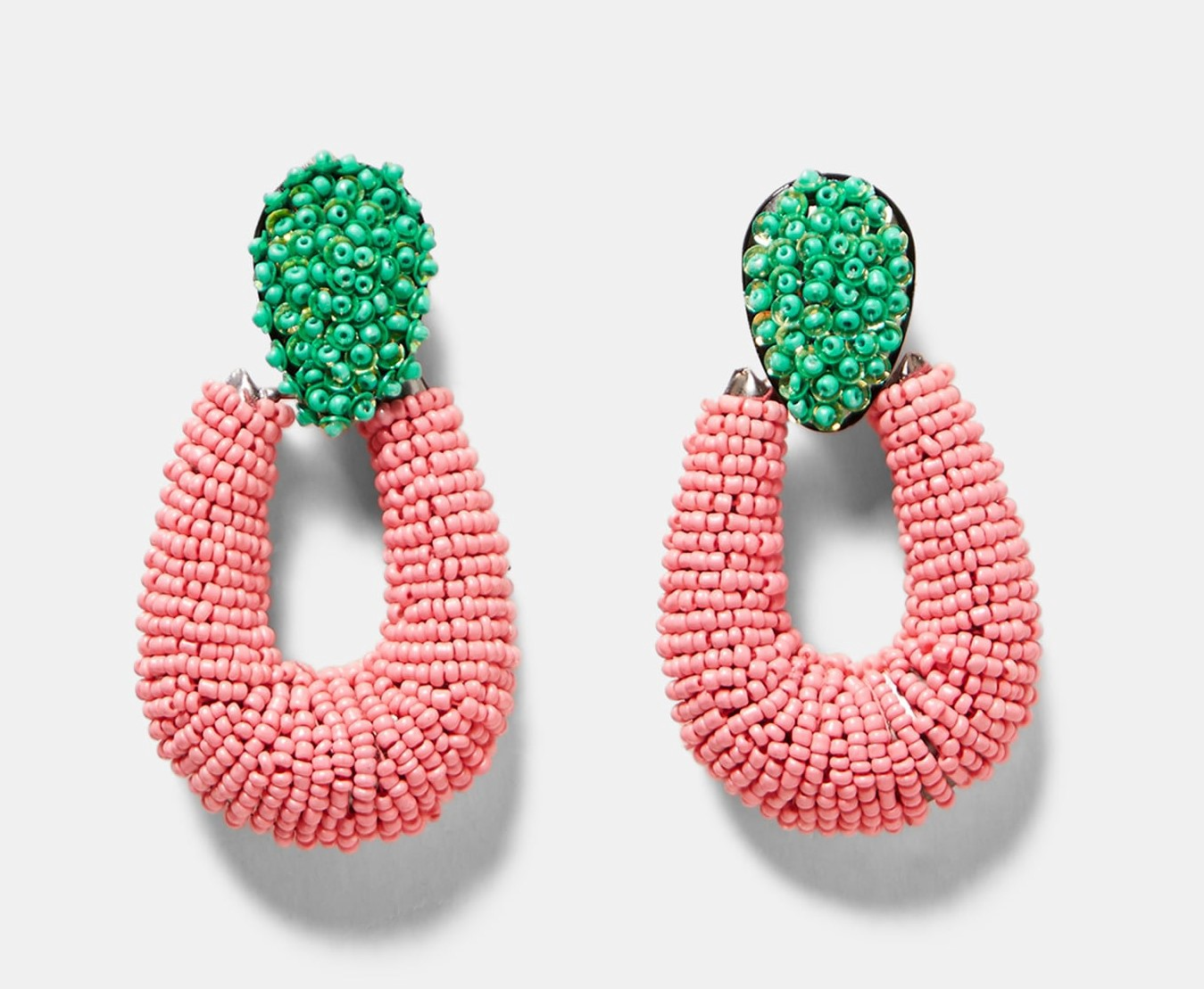 eecce3a694bd Two Tone Hoop Style Earrings, $19.90: These are bright and big. They manage  to be preppy, funky, and slightly exotic at the same time.