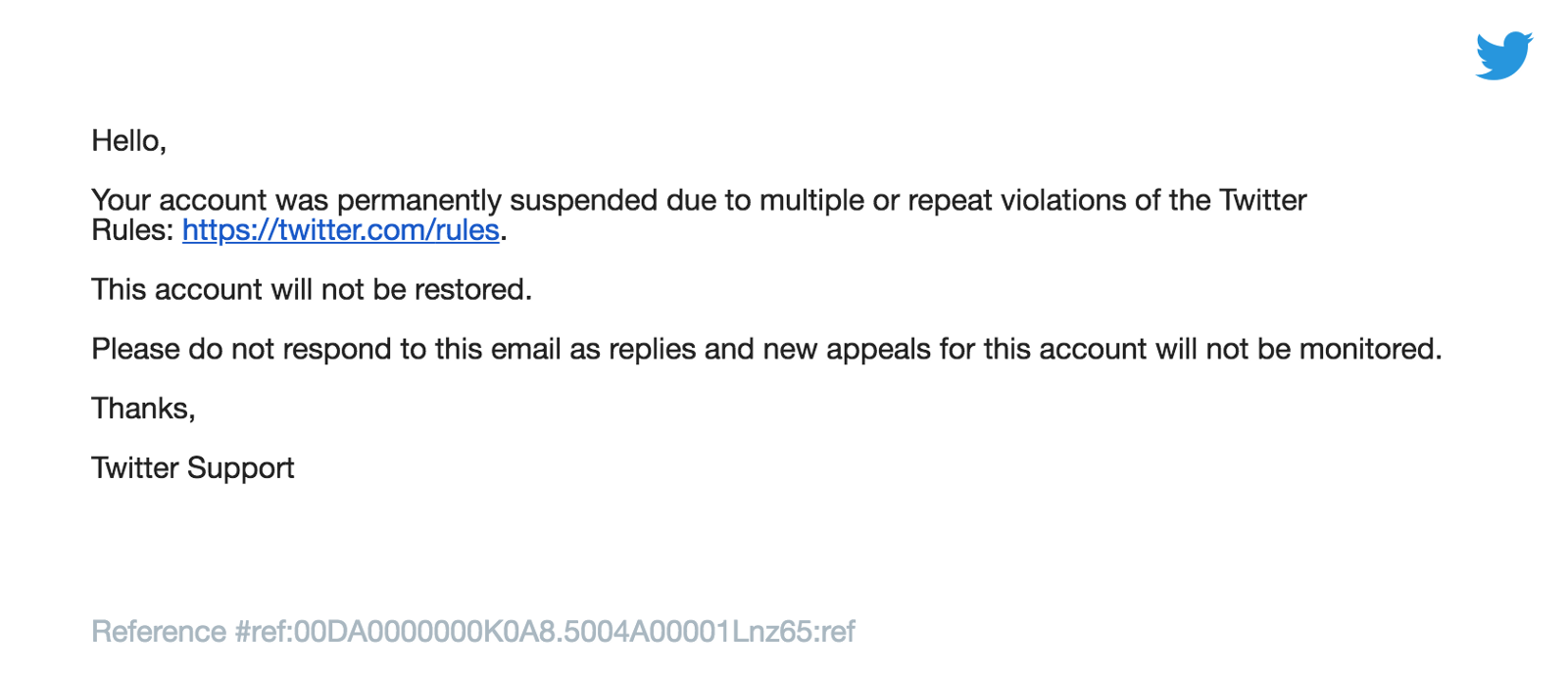 Users can have their accounts permanently suspended for these violation