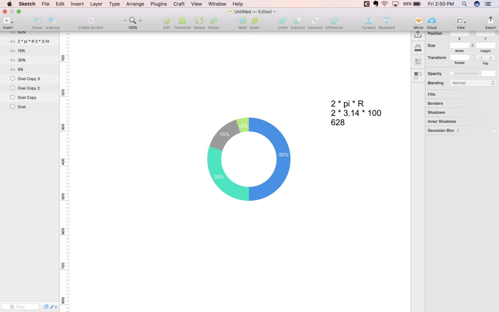 How to create a pie chart or doughnut chart in sketch this is one of the easiest method to create a doughtnut chart and pie chart nvjuhfo Gallery