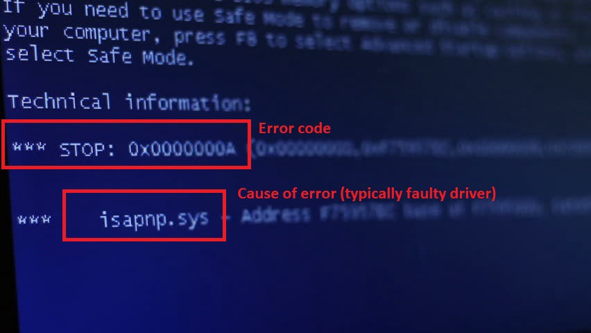 🔧 windows 10 blue screen error codes \u0026 solutions (all bsod errorsthe real error is the \u201cstop\u201d code cited near the bottom of the screen