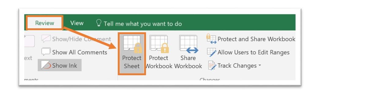 Excel 365 How To Protect Cells In A Shared Worksheet. To Do This Navigate The Review Ribbon And Choose Protect Sheet. Worksheet. Ine Calculation Worksheet At Clickcart.co