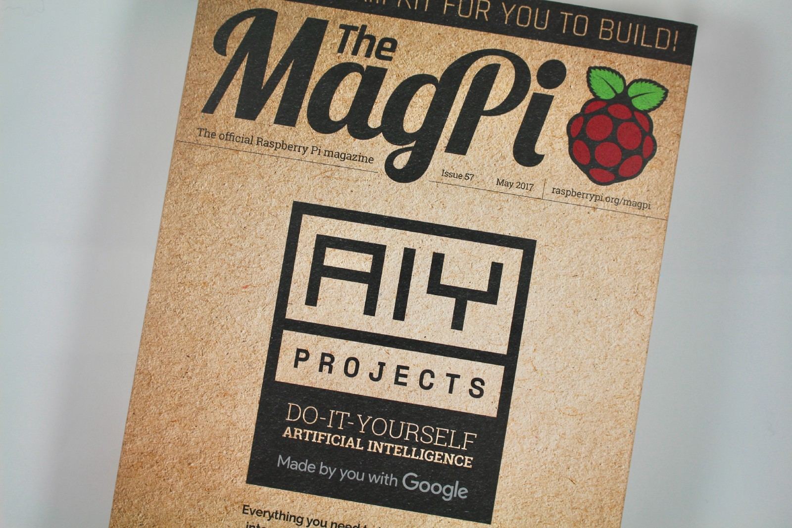 Do it yourself artificial intelligence alasdair allan medium the aiy projects voice kit free on the cover of issue 57 of the magpi solutioingenieria Image collections