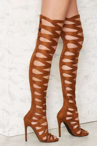 212298c634f82 Option E  Privileged One Hit Over-the-Knee Stiletto Heel (Brown).  150.