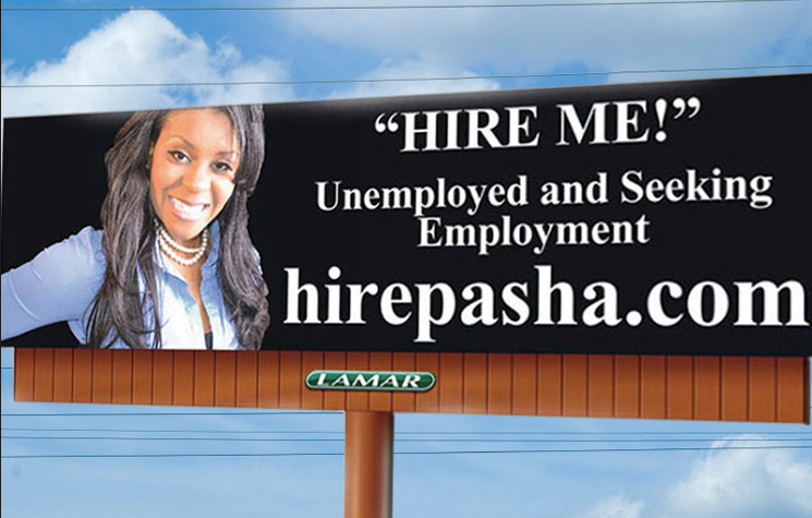 job hunters use crazy billboards as resumes  u2013  u0104 u017euolas lomonosovas  u2013 medium