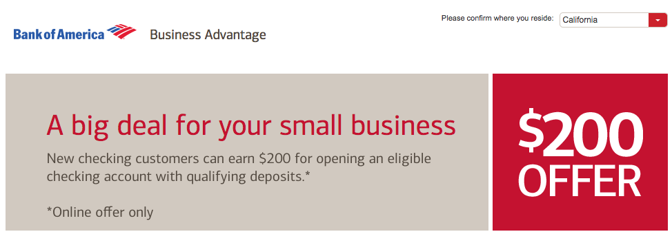 Bank of america open checking account