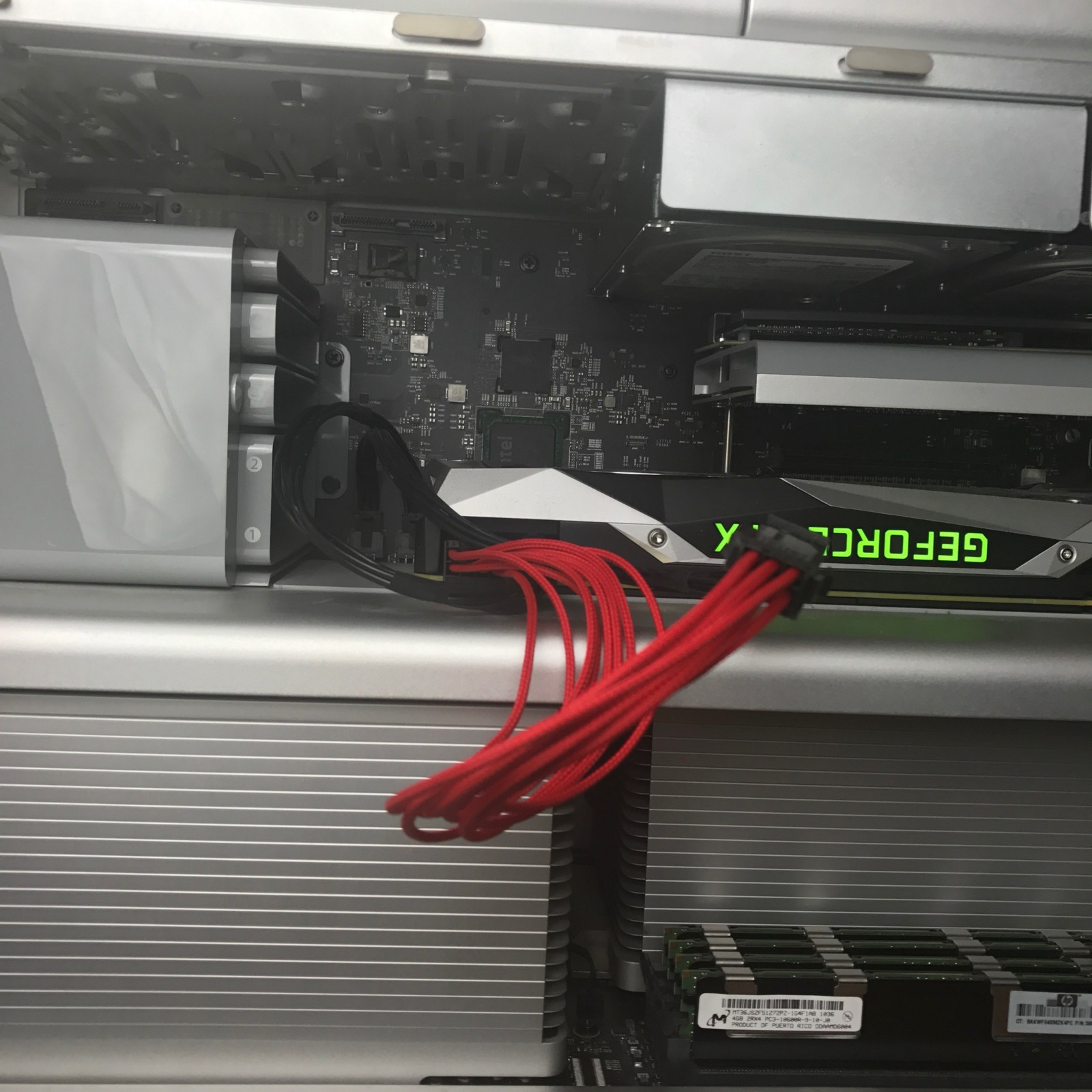 Updating Your Mac Pro Getting Prepped Daniel Pasco Medium Pcie 8 Pin Wiring Diagram The 1080 Ti Has Two Plugs One For A Regular Six Cable And Another An
