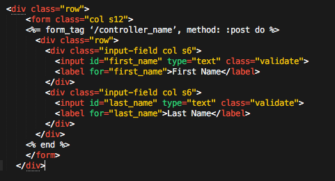 Adapting Materialize Form Component for Ruby on Rails
