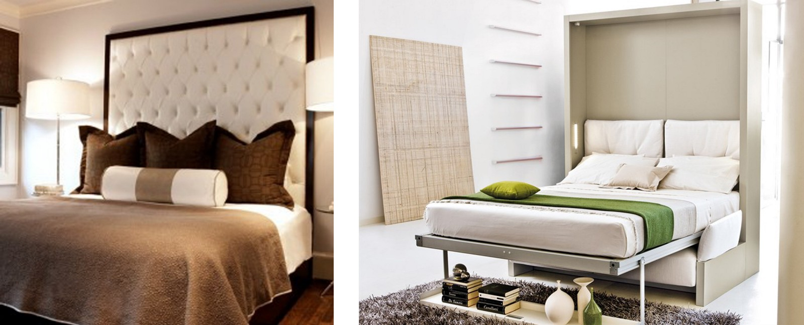 YES: Wall Mounted Headboard And Pop Up Bed That Hides In The Wall