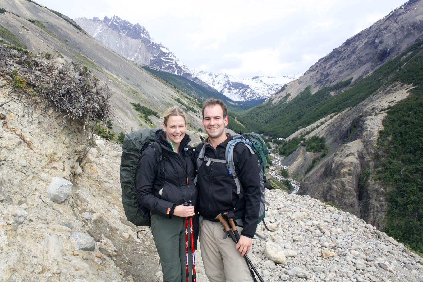 dropbox seattle office mt. Matt And His Wife Lori Hiking In Torres Del Paine National Park, Patagonia. Dropbox Seattle Office Mt